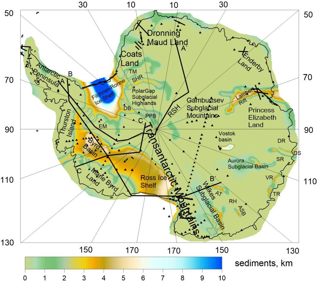 ANTAsed Новая модель осадков для Антарктиды