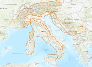 ГИС-проект Линеаменты Италии